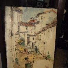 Arte: BERNARD DUFOUR PAISAJE CALLE - FIRMADO - ACRILICO SOBRE LIENZO MEDIDA 32 X 46 CM.. Lote 56645629