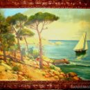 Arte: JOAQUIN BELLIDO (ESCUELA VALENCIANA). PAISAJE COSTERO. ÓLEO/LIENZO 50X75 CMS. CIRCA 1930.. Lote 56722593