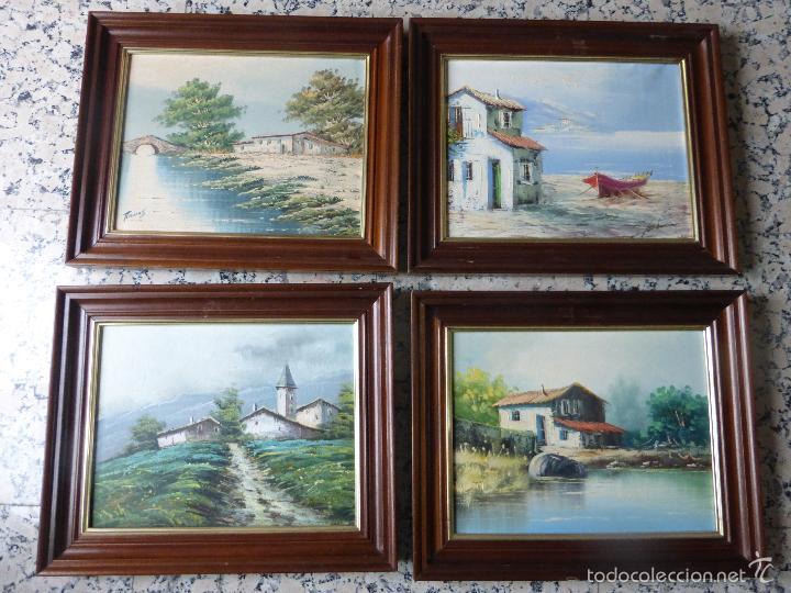 colección de 5 cuadros con dibujos de paisajes - Comprar Pintura al ...