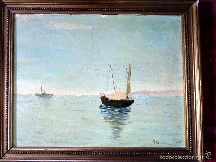 PRECIOSA PINTURA MARINA MÁLAGA FIRMADA RITTWAGEN (Arte - Pintura - Pintura al Óleo Contemporánea )