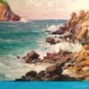 Arte: PINTURA ESPAÑOLA S. XX. PAISAJE DE LA COSTA DE MALLORCA / JOSÉP MIRET ALEU SE ENVÍA CON MARCO. Lote 56854559