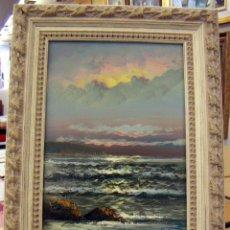 Kunst - Pintura al oleo con marco firma ilegible - 56950274
