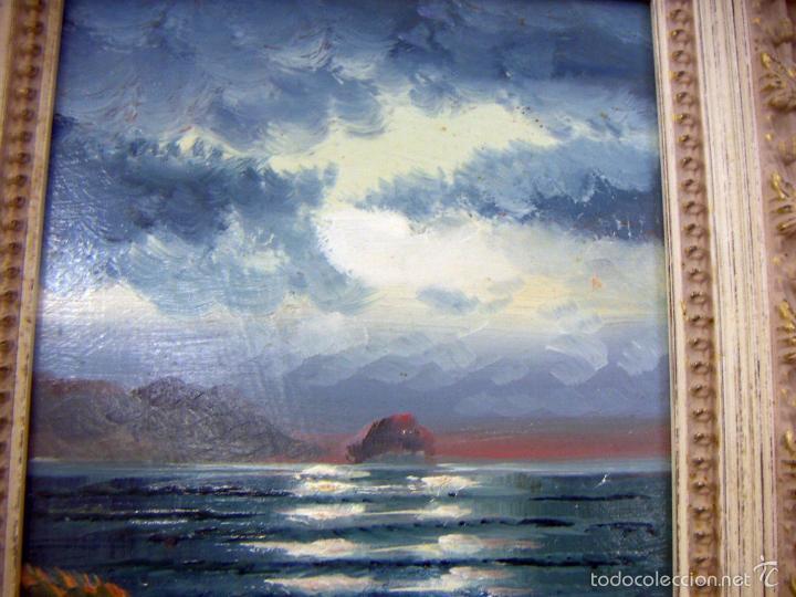 Arte: Pintura al oleo con marco firma ilegible - Foto 2 - 56950286