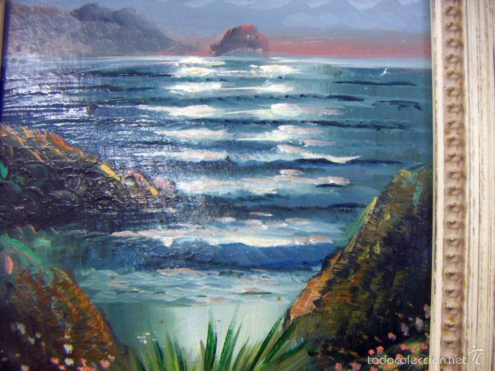 Arte: Pintura al oleo con marco firma ilegible - Foto 3 - 56950286