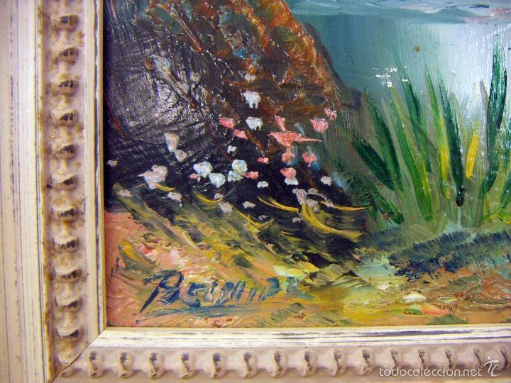 Arte: Pintura al oleo con marco firma ilegible - Foto 4 - 56950286