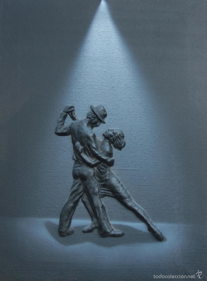 Arte: 4 PINTURAS BAILE -FIGURAS RELIEVE - Foto 5 - 56956058