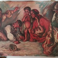 Arte: OLEO SOBRE LIENZO, GITANOS, AÑOS 30. Lote 56959941