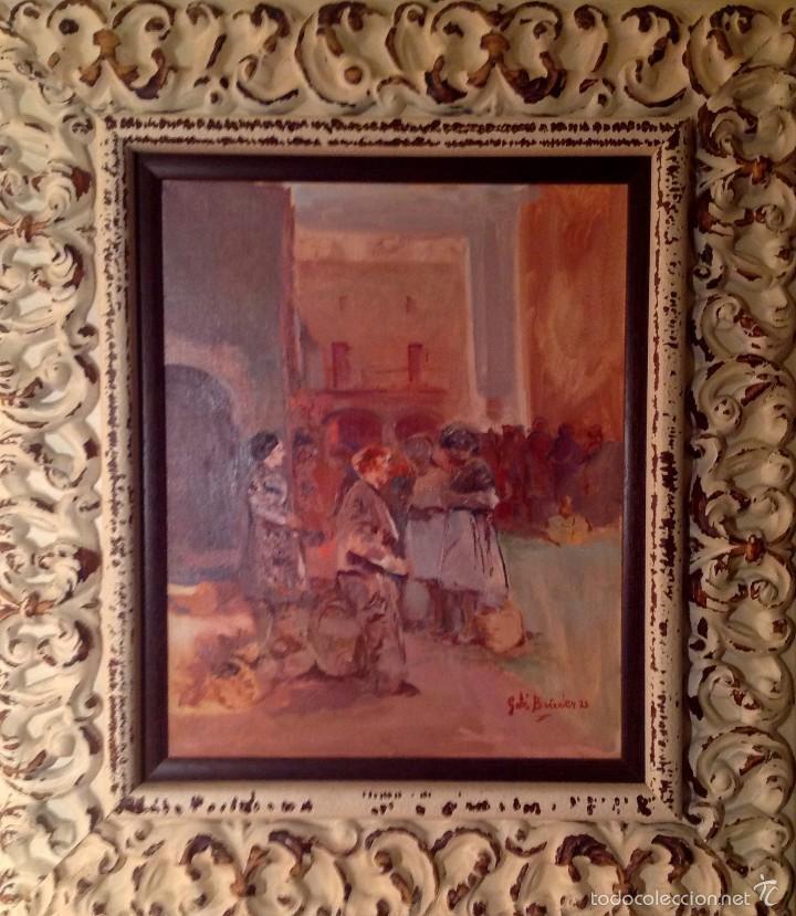 CUADROS ÓLEO DEL PINTOR GABÍ BOIXADER TITULO DEL CUADRO EL MERCADO (Arte - Pintura - Pintura al Óleo Moderna sin fecha definida)