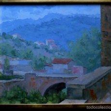 Arte: ÓLEO SOBRE TABLA.LLUIS CLAPÉS GONZÁLEZ.(SABADELL 1911-1983)SANT LLORENÇ DE SAVALL... Lote 56982601