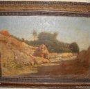 Arte: OLEO SOBRE LIENZO. S.XIX. IMPRESIONISTA. FIRMADO POR E. GARCÍA - MALAGA. Lote 57023402