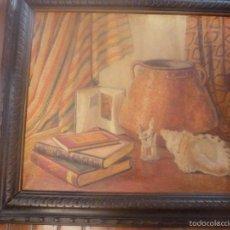 Arte: OLEO SOBRE LIENZO ESCUELA MALLORQUINA BODEGON CON CALDERO. Lote 57030031