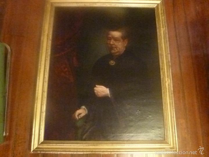 OLEO SOBRE LIENZO ESCUELA MALLORQUINA RETRATO DE SEÑORA (Arte - Pintura - Pintura al Óleo Moderna siglo XIX)