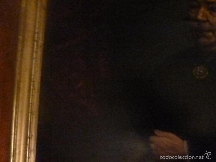 Arte: oleo sobre lienzo escuela mallorquina retrato de señora - Foto 5 - 57030058