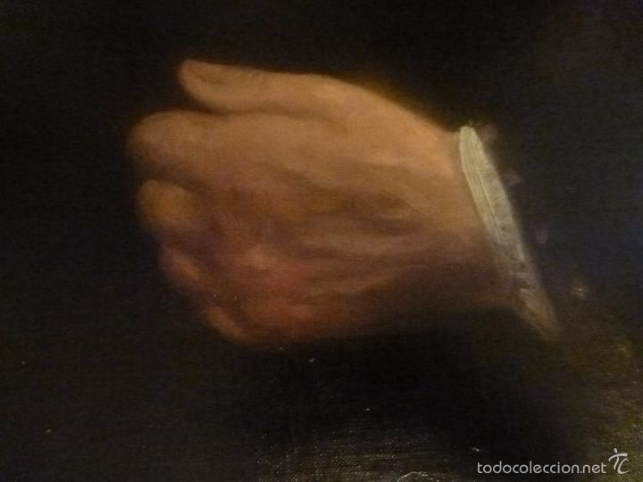 Arte: oleo sobre lienzo escuela mallorquina retrato de señora - Foto 11 - 57030058