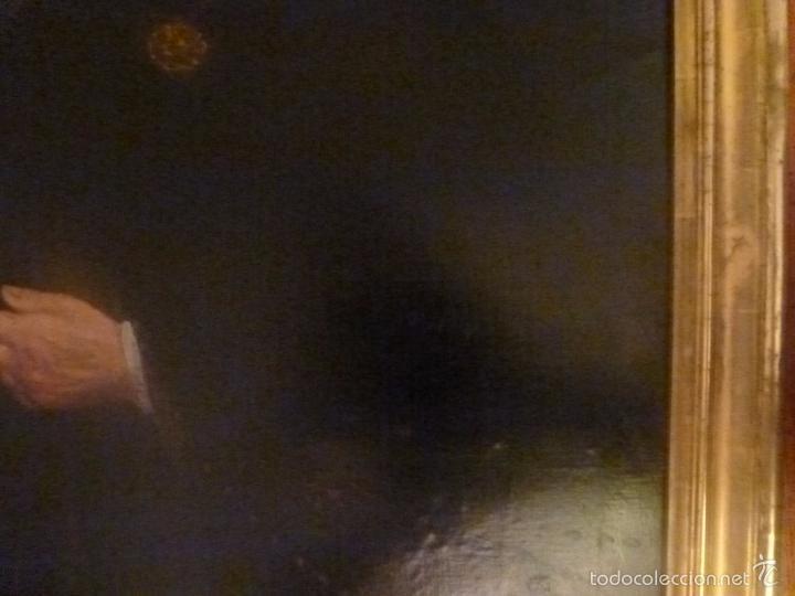 Arte: oleo sobre lienzo escuela mallorquina retrato de señora - Foto 13 - 57030058