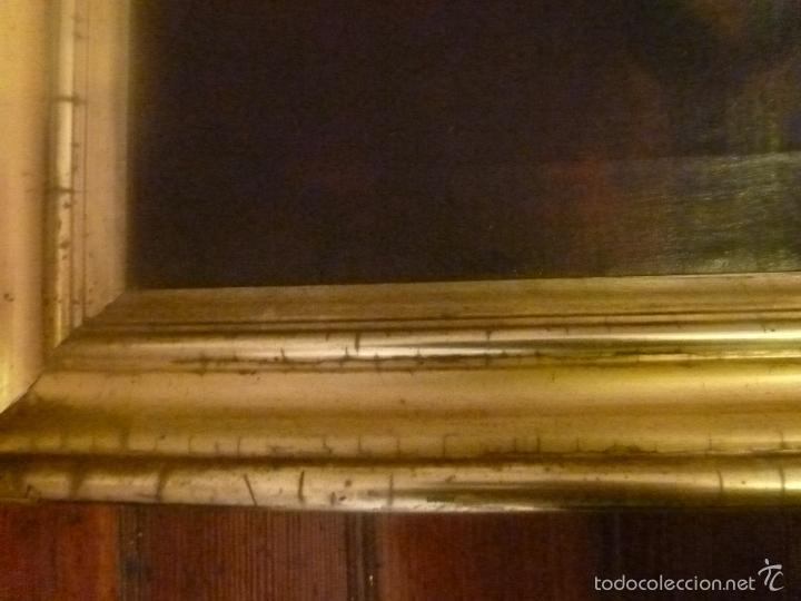 Arte: oleo sobre lienzo escuela mallorquina retrato de señora - Foto 14 - 57030058