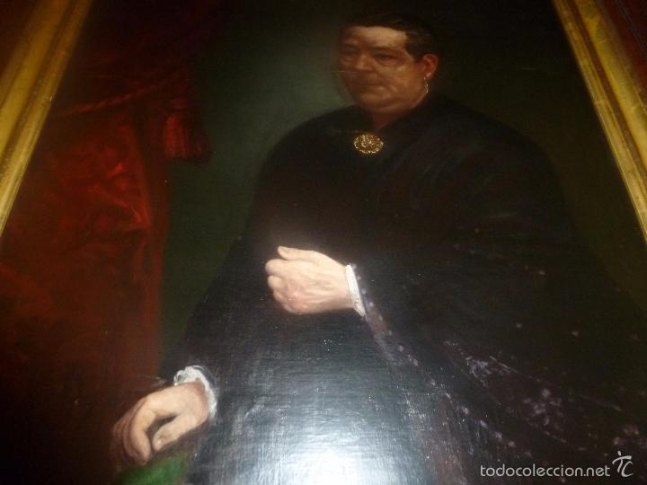Arte: oleo sobre lienzo escuela mallorquina retrato de señora - Foto 15 - 57030058