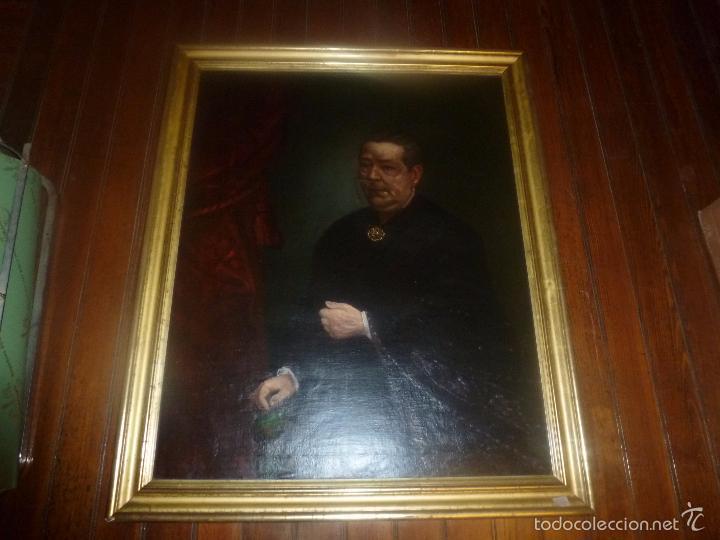 Arte: oleo sobre lienzo escuela mallorquina retrato de señora - Foto 18 - 57030058