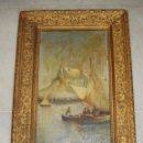 Arte: OLEO SOBRE TABLA. S.XIX. FIRMADO: F. MUÑOZ. Lote 57036118