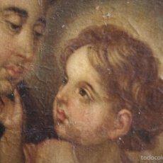 Arte: SAN ANTONIO DE PADUA CON EL NIÑO JESÚS - ATRIBUIDO A MENESES OSORIO (SEVILLA 1640-1721). Lote 67548986