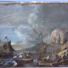 Arte: EUROPEO XVIII (FIRMA MONOGRAMA) - ÓLEO SOBRE TELA (REENTELADO). Lote 57088242