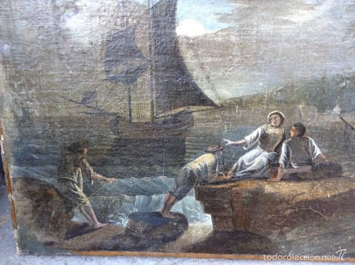 Arte: Europeo XVIII (firma monograma) - Óleo sobre tela (reentelado) - Foto 2 - 57088242