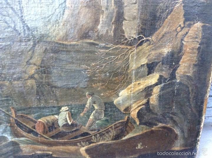 Arte: Europeo XVIII (firma monograma) - Óleo sobre tela (reentelado) - Foto 3 - 57088242