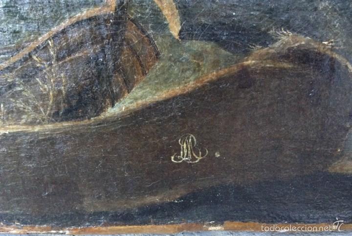Arte: Europeo XVIII (firma monograma) - Óleo sobre tela (reentelado) - Foto 6 - 57088242
