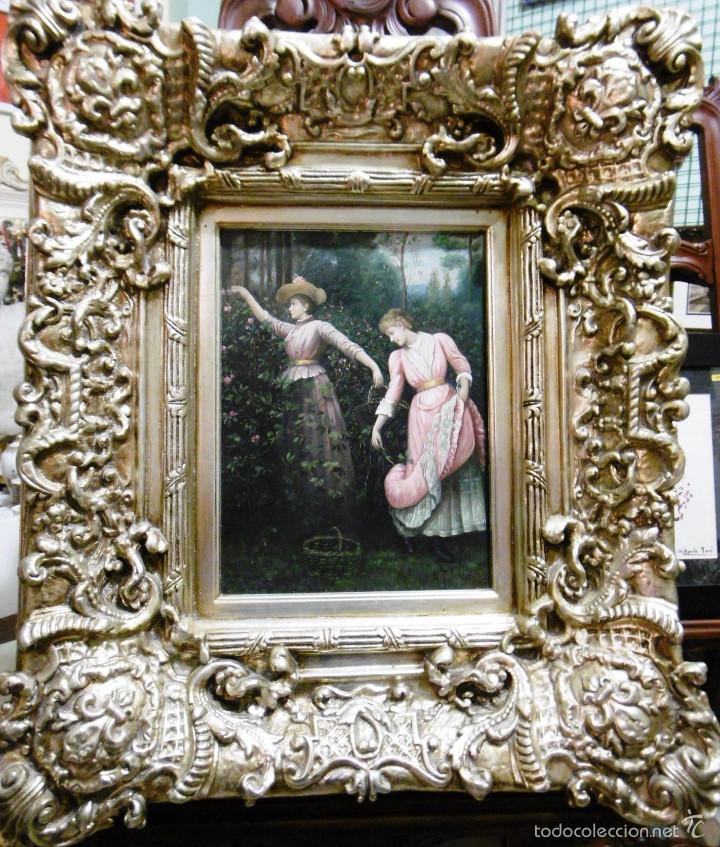 exquisito y espectacular oleo tabla esc. europe - Comprar Pintura al ...