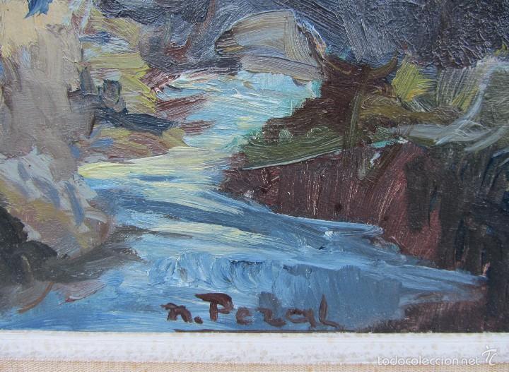 Arte: oleo sobre táblex paisaje Narciso Peral Gil. Sant Julià dAltura. Sabadell - Foto 2 - 57138718