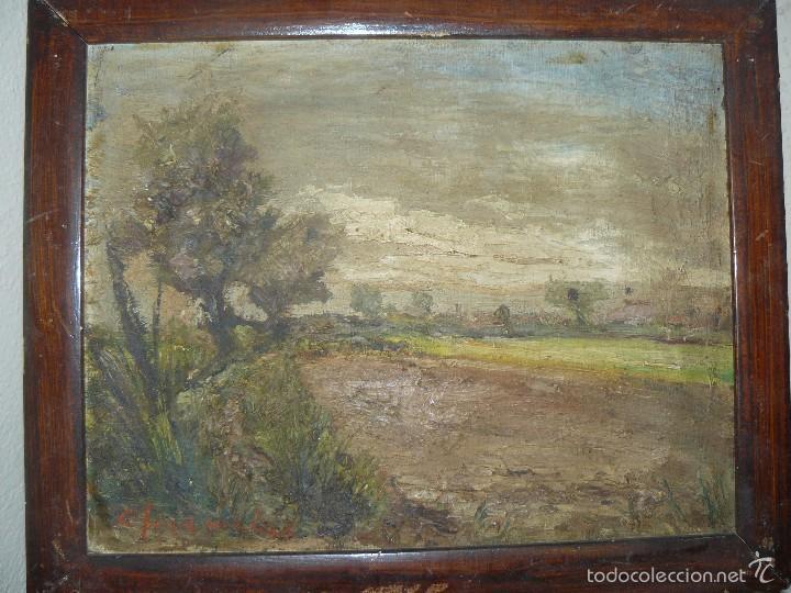 OLEO / TELA - FIRMADO C FERRER - PAISAJE RURAL (Arte - Pintura - Pintura al Óleo Moderna sin fecha definida)