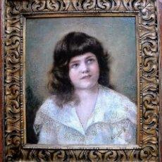 Arte: ALEXEI HARLAMOFF RUSIA 1840-1925 NEOREALISMO RETRATO DE NIÑA VESTIDA DE BLANCO OLEO/LIENZO 54X50 CMS. Lote 50492488