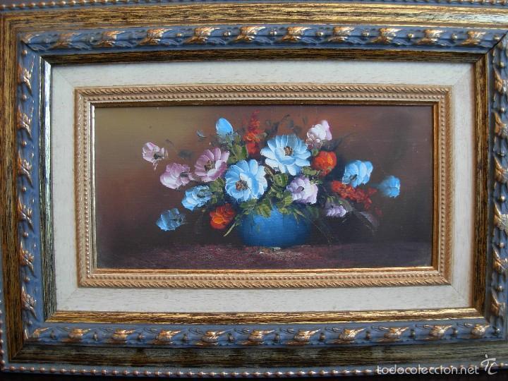 Arte: Bonito cuadro al óleo sobre tabléx. Precioso enmarcado - Foto 2 - 57195802