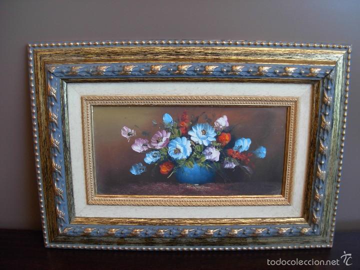 Arte: Bonito cuadro al óleo sobre tabléx. Precioso enmarcado - Foto 6 - 57195802