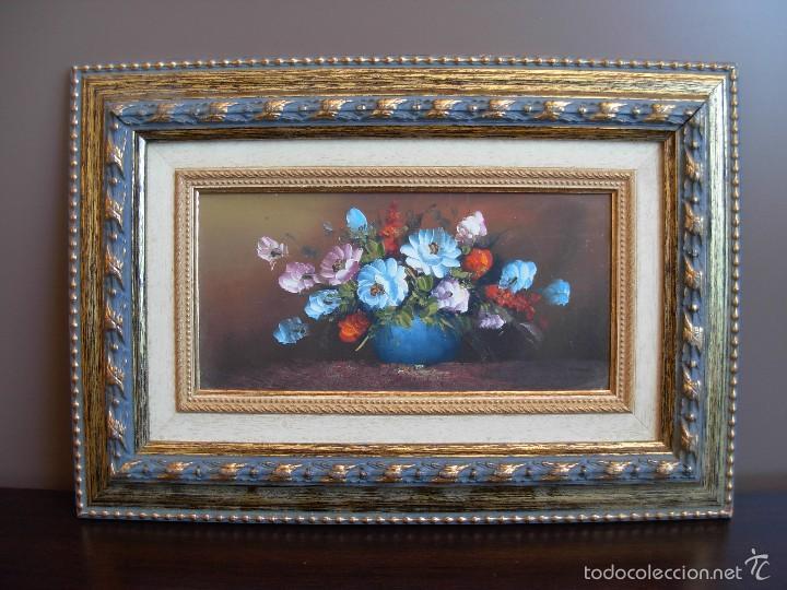 Arte: Bonito cuadro al óleo sobre tabléx. Precioso enmarcado - Foto 11 - 57195802