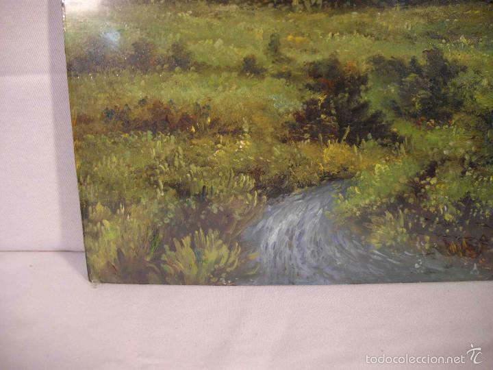 Arte: OLEO SOBRE TABLA PAISAJE PRADO - Foto 2 - 57217544