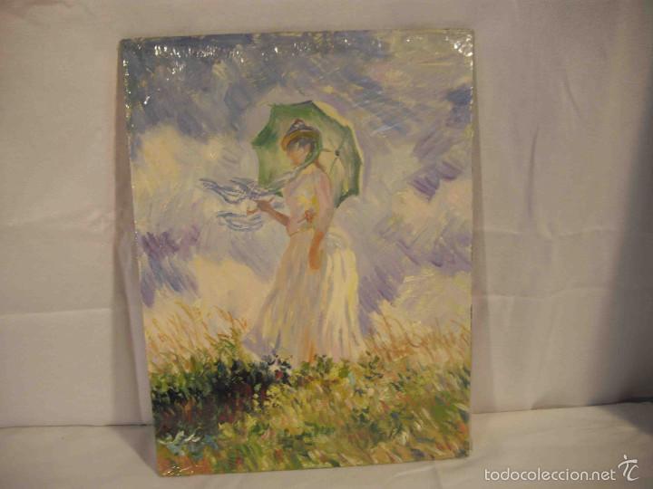 OLEO SOBRE TABLA DAMA IMPRESIONISTA (Arte - Pintura - Pintura al Óleo Moderna sin fecha definida)