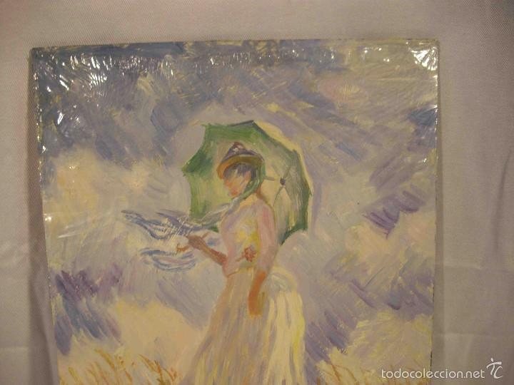 Arte: OLEO SOBRE TABLA DAMA IMPRESIONISTA - Foto 3 - 57217658