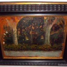 Arte: JOSÉ NOGALES SEVILLA (MÁLAGA, 1860-1939) OLEO SOBRE MADERA. DEDICADO Y FIRMADO EN 1934.. Lote 57224501