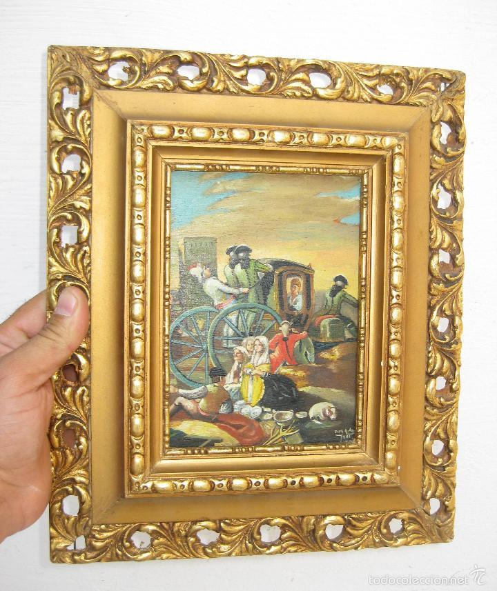 precioso cuadro oleo escena estilo xviii sobre - Comprar Pintura al ...