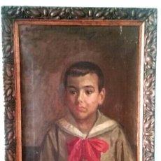 Arte: JOSÉ NOGALES SEVILLA (MÁLAGA, 1860-1939) RETRATO DE PEPITO FRAGOSO (AÑO 1921). Lote 57296041