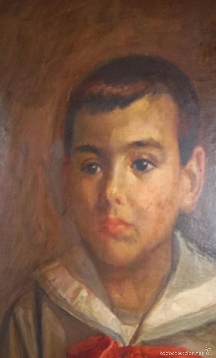 Arte: JOSÉ NOGALES SEVILLA (MÁLAGA, 1860-1939) RETRATO DE PEPITO FRAGOSO (AÑO 1921) - Foto 3 - 57296041