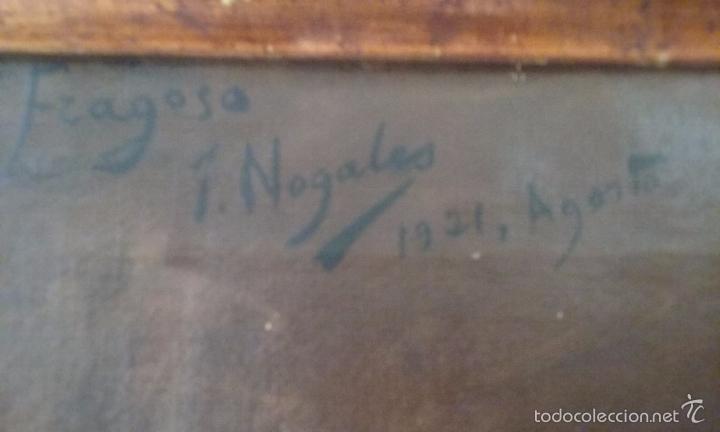 Arte: JOSÉ NOGALES SEVILLA (MÁLAGA, 1860-1939) RETRATO DE PEPITO FRAGOSO (AÑO 1921) - Foto 5 - 57296041