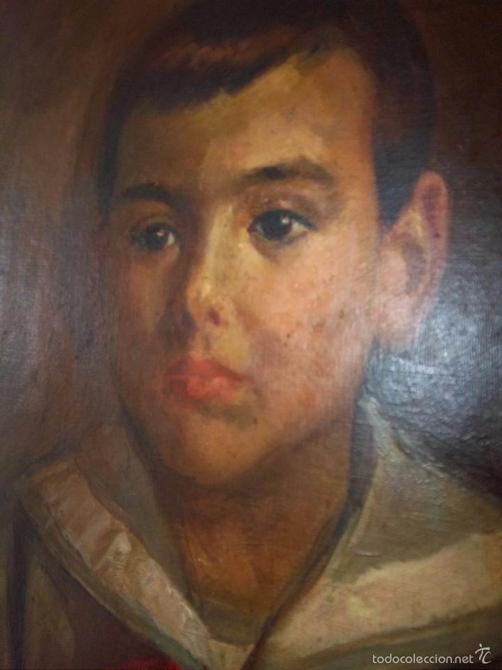 Arte: JOSÉ NOGALES SEVILLA (MÁLAGA, 1860-1939) RETRATO DE PEPITO FRAGOSO (AÑO 1921) - Foto 6 - 57296041