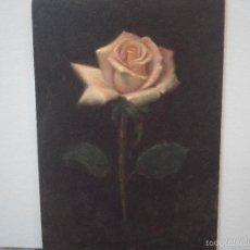 Arte: PINTURA DE UNA ROSA . Lote 57314337