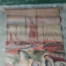 Arte: OLEO DE FERMÍN SANCHO 1935 PESCADORES CUADRO FAMOSO. Lote 57314548