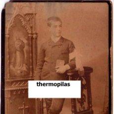 Arte: FOTOGRAFIA ORIGINAL DEL PINTOR JOAQUIN-JOAQUIM MIR,EL DIA DE SU COMUNION,1886,PUBLICADA,PINTURA.. Lote 57324339