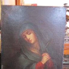 Arte: ANTIGUO ÓLEO SOBRE LIENZO - DOLOROSA - 62,5 X 81 CMS.. Lote 57380567