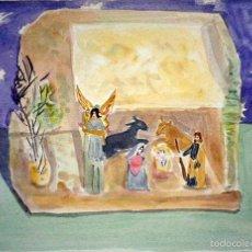 Arte: BELEN NACIMIENTO ACUARELA / PAPEL 1986, ALMA AJO. Lote 57408363
