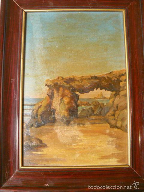 OLEO SOBRE TABLA DE J. CRIO (Arte - Pintura - Pintura al Óleo Contemporánea )